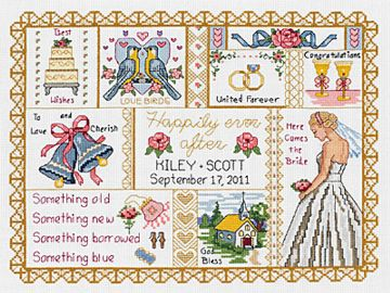Wedding Collage Cross Stitch Kit